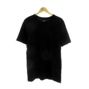 【中古】スリードッツ three dots Tシャツ カットソー 半袖 無地 M 黒 ブラック /M...