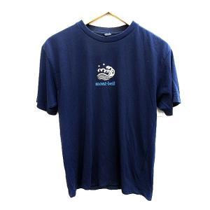 モンベル Montbell Tシャツ カットソー 半袖 プリント XS 青 ブルー /AAO18 メ...