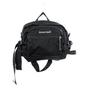【中古】モンベル Montbell ウエストバッグ ボディバック ナイロンキャンバス 黒 ブラック ...