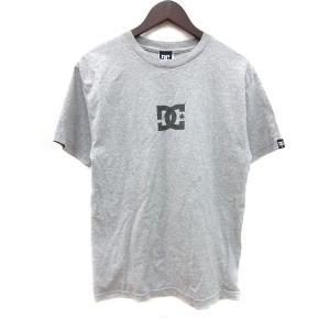 【中古】ディーシーシューズ DC SHOES カットソー Tシャツ クルーネック プリント 半袖 M グレー /MN メンズ 【ベクトル 古着】|vectorpremium
