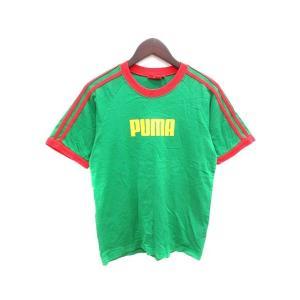 プーマ PUMA Tシャツ クルーネック 半袖 160 緑 グリーン 赤 レッド /YK キッズ 【...