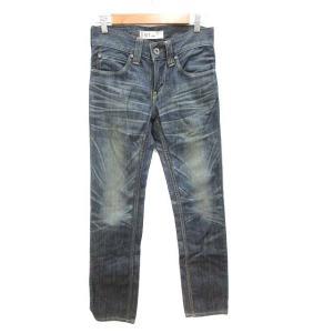 【中古】リーバイス Levi's 511 パンツ デニム ジーンズ ユーズド加工 W28 青 ブルー...