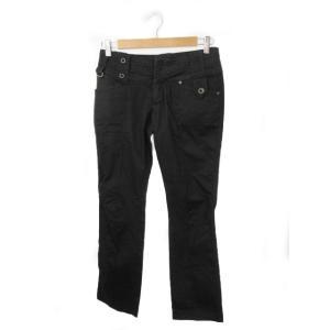 ディーゼル DIESEL パンツ チノパン ストレート ロゴ 刺繍 26 黒 ブラック /YH11 ...