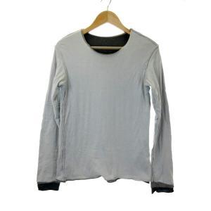b55f2843d2260e アタッチメント ATTACHMENT Tシャツ カットソー クルーネック 長袖 レイヤード 1 グレー /MS3 メンズ 【中古】【ベクトル 古着】
