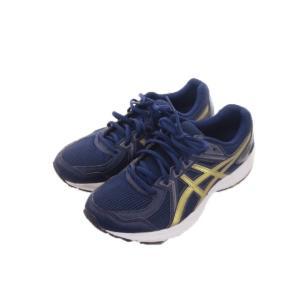 アシックス asics TJG138 靴 シューズ ランニング ジョギング 25 紺 ネイビー ゴールド /EK2 メンズ/レディース/ユニセックス 【中古】【ベクトル 古着】|vectorpremium