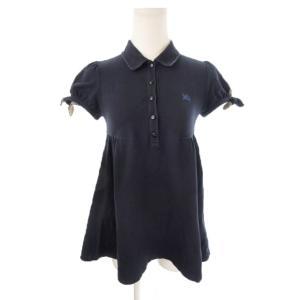 バーバリーブルーレーベル BURBERRY BLUE LABEL ポロシャツ 半袖 パフスリーブ リ...
