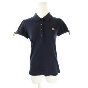 【中古】バーバリーブルーレーベル BURBERRY BLUE LABEL ポロシャツ 半袖 リボン ...