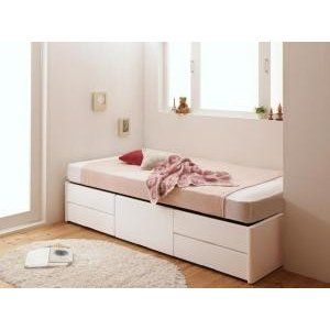 送料無料 収納付きベッド セミシングル マットレス付き ベッド ショート丈 収納 ベッド ヘッドレス...