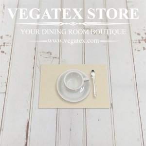 ランチョンマットのハーフサイズ ティーマット 撥水 シンプル 布 VEGATEX キャンバス オイスター|vegatex-store