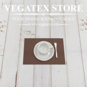 ランチョンマットのハーフサイズ ティーマット 撥水 シンプル 布 VEGATEX キャンバス ココア|vegatex-store
