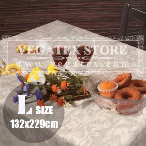 テーブルクロス ビニール おしゃれ VEGATEX オーチャード グレージュ<L>132×229cm|vegatex-store