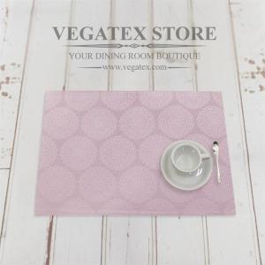 ランチョンマット 撥水 おしゃれなデザイン 布 VEGATEX プリズム ローズライラック|vegatex-store