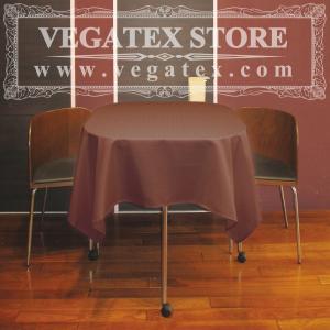 テーブルクロス 正方形 撥水 シンプル 布 VEGATEX キャンバス ココア<S>140×140cm|vegatex-store