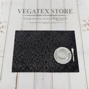 ランチョンマット 撥水 おしゃれなデザイン 布 VEGATEX マルベリー ブラックオリーブ|vegatex-store