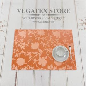 ランチョンマット 撥水 おしゃれなデザイン 布 VEGATEX エスタ コーラル|vegatex-store