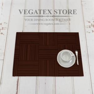 ランチョンマット 撥水 モダン 布 VEGATEX ジェイド ビターチョコレイト|vegatex-store