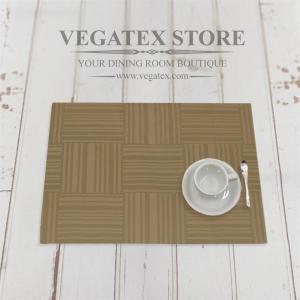 ランチョンマット 撥水 モダン 布 VEGATEX ジェイド モカブラウン|vegatex-store