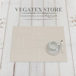 ランチョンマット 撥水 モダン 布 VEGATEX ジェイド アイボリー|vegatex-store