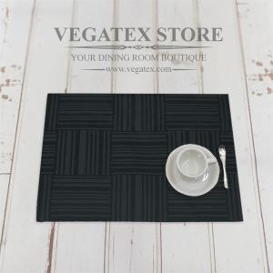 ランチョンマット 撥水 モダン 布 VEGATEX ジェイド ブラックインク|vegatex-store