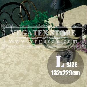 テーブルクロス ビニール おしゃれ VEGATEX グレープ アイボリー<L>132×229cm|vegatex-store