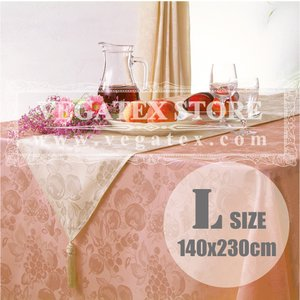 テーブルクロス 撥水 布 VEGATEX ハーベストホーム ピーチ<L>140×230cm vegatex-store