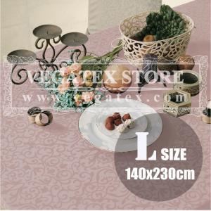 テーブルクロス 撥水 布 VEGATEX マルベリー オールドローズ<L>140×230cm vegatex-store
