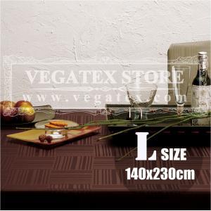 テーブルクロス 撥水 布 VEGATEX ジェイド チョコレイト<L>140×230cm vegatex-store