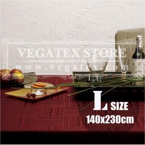 テーブルクロス 撥水 布 VEGATEX ジェイド スパイスワイン<L>140×230cm vegatex-store