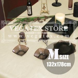 テーブルクロス ビニール おしゃれ VEGATEX モアレ ベージュ<M>132×178cm|vegatex-store