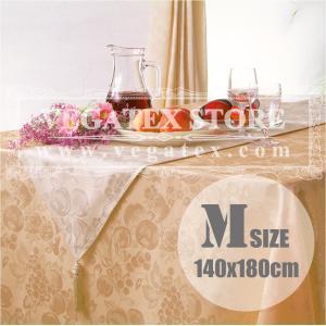 テーブルクロス 撥水 布 VEGATEX ハーベストホーム クリーム<M>140×180cm|vegatex-store