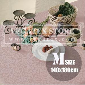 テーブルクロス 撥水 布 VEGATEX マルベリー オールドローズ<M>140×180cm|vegatex-store