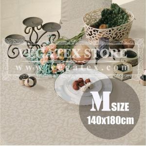 テーブルクロス 撥水 布 VEGATEX マルベリー プラチナ<M>140×180cm|vegatex-store