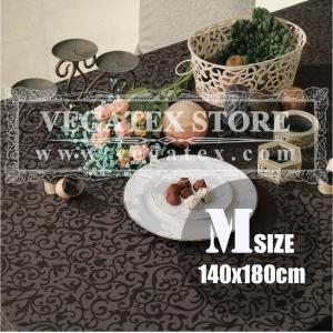 テーブルクロス 撥水 布 VEGATEX マルベリー ブラックオリーブ<M>140×180cm|vegatex-store