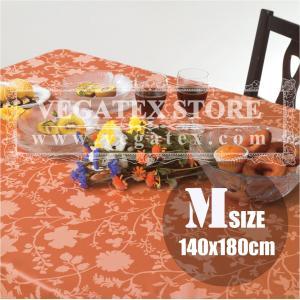 テーブルクロス 撥水 布 VEGATEX エスタ コーラル<M>140×180cm|vegatex-store