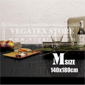 テーブルクロス 撥水 布 VEGATEX ジェイド ブラックインク<M>140×180cm|vegatex-store