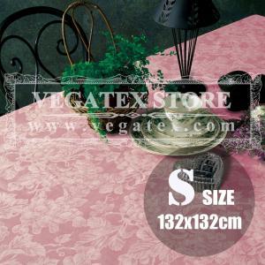 テーブルクロス ビニール おしゃれ VEGATEX グレープ サーモン<S>正方形132×132cm|vegatex-store