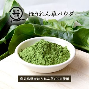 野菜パウダー ほうれんそう 鹿児島県産ほうれん草使用 40g 生パスタやシチューなどに|vegeko