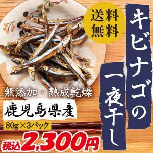 干物 鹿児島県産 キビナゴの一夜干し 80g×3パック 無添加 熟成乾燥 送料無料|vegeko