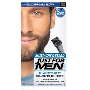 髭の白髪染め 白毛染め JUST FOR MEN ひげ染め ミディアム ダークブラウン