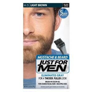 髭の白髪染め  白毛染め JUST FOR MEN ひげ染め ライト ブラウン