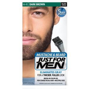 髭の白髪染め 白毛染め JUST FOR MEN ひげ染め  ダーク ブラウン