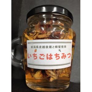 いちごはちみつ120g 新潟県産越後姫 ドライ苺入り|vegetable-fruit-igh