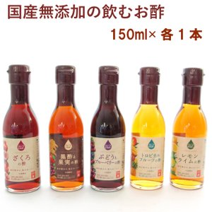 内堀醸造 果実酢 5種類セット 各 1本 1セット 送料無料