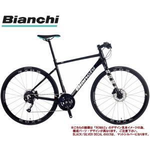 クロスバイク 2021 BIANCHI ビアンキ ROMA 3 DISC ローマ3ディスク BLACK/SILVER DECAL 16段変速 SHIMANO 2X8SP 700C 油圧ディスクブレーキ|vehicle