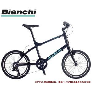 """ミニベロ・小径車 2020 BIANCHI ビアンキ LECCO レッコ ブラック 7段変速 20""""..."""