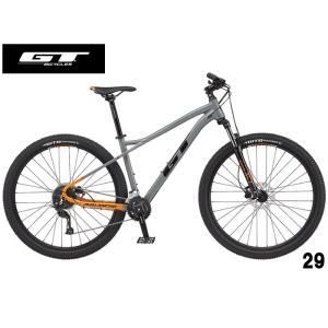(選べる特典付き!)マウンテンバイク 2021 GT ジーティー AVALANCHE SPORT V2 29 アバランチェ スポーツV2 29 グレー 18段変速 29|vehicle