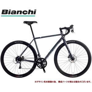 グラベルロードバイク 2021 BIANCHI ビアンキ ORSO SHIMANO SORA オルソ シマノ ソラ GRAPHITE/BLACK-CK16(KP)  2×9SP DISC 700C|vehicle