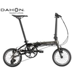 (選べる特典付き!)折り畳み 2021 DAHON ダホン K3 ガンメタル×ブラック 3段変速 ホイール径14インチ|vehicle