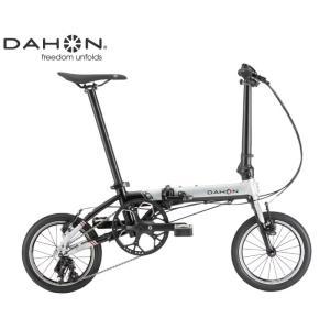 (選べる特典付き!)折り畳み 2021 DAHON ダホン K3 シルバー×ブラック 3段変速 ホイール径14インチ|vehicle