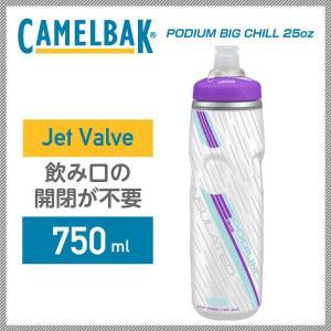 (CAMELBAK)キャメルバック ボトル PODIUM BIG CHILL ポディウムビッグチル 750ml(25oz) パープル(JetValve)(18892045) vehicle